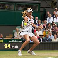 Agnieszka Radwanska<br /> <br /> Tennis - The Championships Wimbledon  - Grand Slam -  All England Lawn Tennis Club  2013 -  Wimbledon - London - United Kingdom -Saturday  2nd July 2013. <br /> &copy; AMN Images, 8 Cedar Court, Somerset Road, London, SW19 5HU<br /> Tel - +44 7843383012<br /> mfrey@advantagemedianet.com<br /> www.amnimages.photoshelter.com<br /> www.advantagemedianet.com<br /> www.tennishead.net