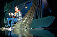May 8 2003, Montreal, Quebec, Canada.<br /> <br />  Michel Rivard  in LE PETIT PRINCE musical comedy, based on Antoine de St-Exupery book, may 8 2003 at the St-Denis Theater, in Montreal, CANADA.<br /> <br /> Mandatory Credit: Photo by Pierre Roussel- Images Distribution. (©) Copyright 2003 by Pierre Roussel <br /> <br /> NOTE : <br />  Nikon D-1 jpeg opened with Qimage icc profile, saved in Adobe 1998 RGB<br /> .Uncompressed  Original  size  file availble on request.