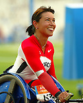 Chantal Petitclerc as she win in today 100 m , new world record 16,33.<br />