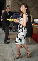 NEW YORK,NY - July 19, 2012: Carla Gugino on Live! with Kelly filming the Grilling with the Stars segment. New York City. © RW/MediaPunch Inc. /*NORTEPHOTO.com* **SOLO*VENTA*EN*MEXICO** **CREDITO*OBLIGATORIO** *No*Venta*A*Terceros* *No*Sale*So*third* ***No*Se*Permite*Hacer Archivo***No*Sale*So*third*©Imagenes*