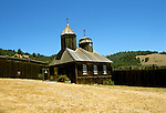 CA: Russian Church at Fort Ross Park on Mendocino Coast  .Photo: cabeac101..Photo Copyright: Lee Foster, 510-549-2202, lee@fostertravel.com, www.fostertravel.com