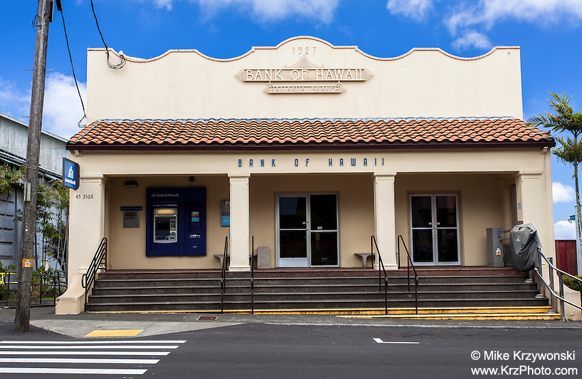 Old Bank of Hawaii building, Honokaa, Big Island, Hawaii