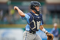 West Michigan Whitecaps catcher Brady Policelli (6) during a game against the Fort Wayne TinCaps on May 17, 2018 at Parkview Field in Fort Wayne, Indiana.  Fort Wayne defeated West Michigan 7-3.  (Mike Janes/Four Seam Images)