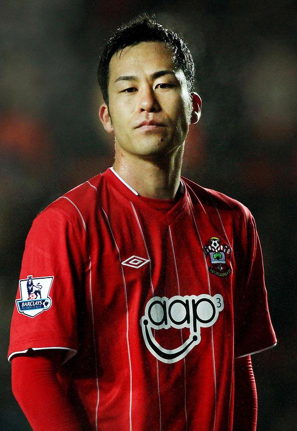 Southampton's Maya Yoshida...- Credit - CameraSport - James Marsh - ..Football - Barclays Premiership - Southampton v Everton - Monday 21st January 2013 - St Mary's - Southampton..