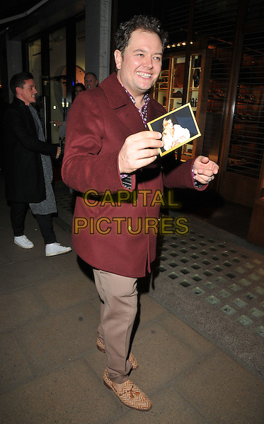 Alan Carr at the Jean-David Malat: BritARTnia private view, Opera Gallery, New Bond Street, London, England, UK, on Tuesday 22 November 2016. <br /> CAP/CAN<br /> &copy;CAN/Capital Pictures