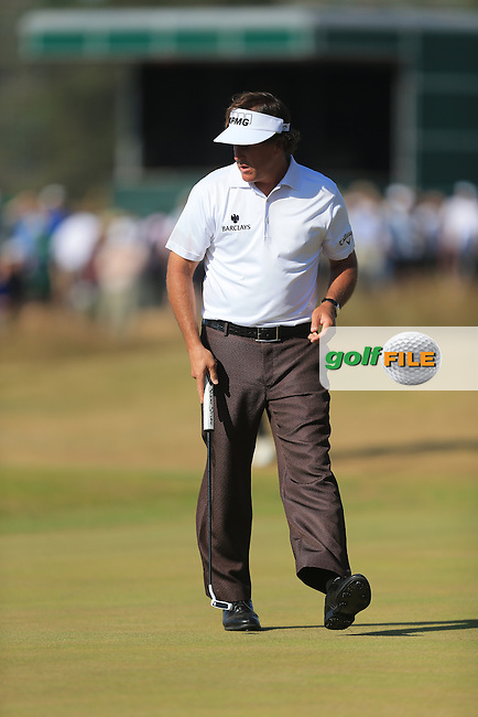 Phil MICKELSON (USA) during round two of  The 142th Open Championship Muirfield, Gullane, East Lothian, Scotland 19/7/2013<br /> Picture Fran Caffrey www.golffile.ie: