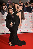 Saira Khan and Katie Price (Jordan) attending the National Television Awards 2018 at The O2 Arena on January 23, 2018 in London, England. (<br /> CAP/Phil Loftus<br /> &copy;Phil Loftus/Capital Pictures