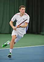 Rotterdam, Netherlands, Januari 24, 2016,  ABNAMROWTT Supermatch, Mats Hermans (NED)<br /> Photo: Tennisimages/Henk Koster
