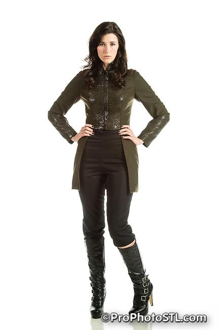 Michele L. Sansone fashion designs - model Melanie