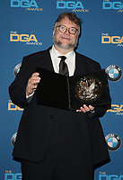 BEVERLY HILLS, CA - FEBRUARY 3: Guillermo del Toro   in the press room at the 70th Annual Directors Guild of America Awards (DGA, DGAs),  at The Beverly Hilton Hotel in Beverly Hills, California on February 3, 2018.  <br /> CAP/MPI/FS<br /> &copy;FS/Capital Pictures