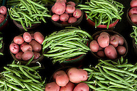 Fresh potatoes and green beans at the Dallas Farmers Market, in Dallas, Texas, Saturday, April 26, 2009. Tomato and pepper season is just around the corner as greens near the end of their season. ..MATT NAGER/ SPECIAL CONTRIBUTOR
