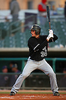 April 28 2009: Conor Gillaspie of the San Jose Giants bats against the Lancaster JetHawks at Clear Channel Stadium in Lancaster,CA.  Photo by Larry Goren/Four Seam Images