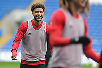 Tyler Roberts in action during the Wales Training Session at the Cardiff City Stadium in Cardiff, Wales, UK. Thursday 15 November 2018
