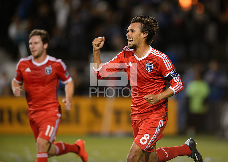 Santa Clara, Ca - Saturday, March 10, 2014: The San Jose Earthquakes defeat FC Dallas 2-1 at Buck Shaw Stadium.