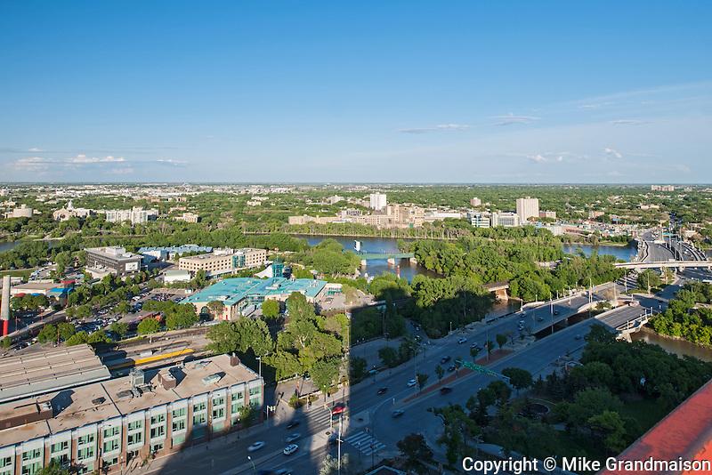 Aerial view of Winnipeg's St. Boniface neighbourhood<br /> Winnipeg<br /> Manitoba<br /> Canada