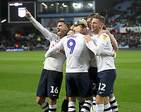 Preston North End's Louis Moult celebrates scoring his sides third goal <br /> <br /> Photographer Mick Walker/CameraSport<br /> <br /> The EFL Sky Bet Championship - Aston Villa v Preston North End - Tuesday 2nd October 2018 - Villa Park - Birmingham<br /> <br /> World Copyright &copy; 2018 CameraSport. All rights reserved. 43 Linden Ave. Countesthorpe. Leicester. England. LE8 5PG - Tel: +44 (0) 116 277 4147 - admin@camerasport.com - www.camerasport.com
