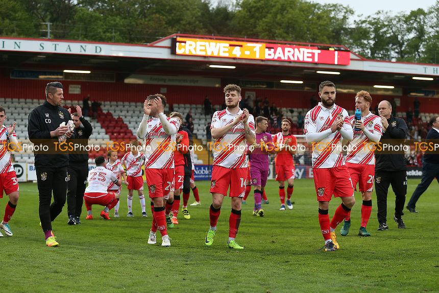 Stevenage players thanks the fans during Stevenage vs Accrington Stanley, Sky Bet EFL League 2 Football at the Lamex Stadium on 6th May 2017