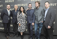 NEW YORK, NY - APRIL 10: Mike Weber, Tony Gilroy, Shivani Rawat, Jon Hamm, Brad Anderson and Andrew Karpen attends the 'Beirut' New York Screening at The Robin Williams Center on April 10, 2018 in New York City. <br /> CAP/MPI/JP<br /> &copy;JP/MPI/Capital Pictures