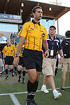 22 July 2016: Referee Marcos DeOliveira. The Carolina RailHawks hosted Miami FC at WakeMed Stadium in Cary, North Carolina in a 2016 North American Soccer League Fall Season game. The game ended in a 3-3 tie.