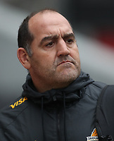 DURBAN, SOUTH AFRICA - JULY 14:Mario Ledesma (Head Coach) of the Jaguares  during the Super Rugby match between Cell C Sharks and Jaguares at Jonsson Kings Park on July 14, 2018 in Durban, South Africa. Photo: Steve Haag / stevehaagsports.com