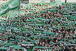 15.04.2018, Weser Stadion, Bremen, GER, 1.FBL, Werder Bremen vs RB Leibzig, im Bild<br /> <br /> Fans Feature im Stadion<br /> Ostkurve Fahnen Bahner Stimmung Emotionen<br /> <br /> Foto &copy; nordphoto / Kokenge
