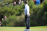 Anna Van Dam Team Europe on the 7th green during Day 1 Fourball at the Solheim Cup 2019, Gleneagles Golf CLub, Auchterarder, Perthshire, Scotland. 13/09/2019.<br /> Picture Thos Caffrey / Golffile.ie<br /> <br /> All photo usage must carry mandatory copyright credit (© Golffile | Thos Caffrey)