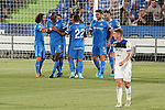 Getafe CF's players celebrate goal during friendly match. August 10,2019. (ALTERPHOTOS/Acero)