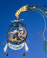Schweiz, Kanton St. Gallen, St. Gallen: Zunftschild, Schreinerei | Switzerland, Canton St. Gallen, St. Gallen: carpenter's guild sign