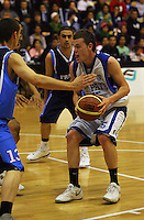 St Pats' captain Jacob Ashby during the NZ Secondary Schools Basketball Championships match between Fraser High School and St Patricks College at Arena Manawatu, Palmerston North, New Zealand on Saturday 4 October 2008. Photo: Dave Lintott / lintottphoto.co.nz