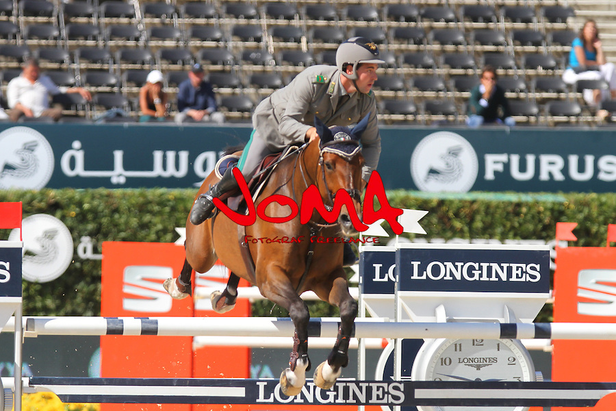 25.09.2015 Barcelon CSIO Barcelona . Picture show Emanuele Gaudiano (ITA) ridding Cocoshynsky during EL Peridodico Trophy at Real Club de Polo de Barcelona