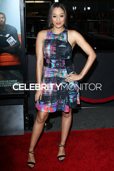 """LOS ANGELES, CA - JANUARY 27: Tia Mowry at the Los Angeles Premiere Of Focus Features' """"That Awkward Moment"""" held at Regal Cinemas L.A. Live on January 27, 2014 in Los Angeles, California. (Photo by David Acosta/Celebrity Monitor)"""