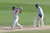Ravi Bopara of Essex is bowled out by Jeetan Patel as Tim Ambrose looks on from behind the stumps during Essex CCC vs Warwickshire CCC, Specsavers County Championship Division 1 Cricket at The Cloudfm County Ground on 20th June 2017