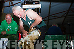 Waterville's Patrick Moran shearing at the Top of Coom on Sunday.