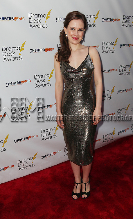 Molly Ranson pictured at the 57th Annual Drama Desk Awards held at the The Town Hall in New York City, NY on June 3, 2012. © Walter McBride