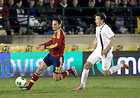 Spain's Sarabia and Norway's Linnes during an International sub21 match. March 21, 2013.(ALTERPHOTOS/Alconada) /NortePhoto
