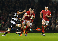 Wales Hadleigh Parkes breaks through the Barbarians defence <br /> <br /> Photographer Ian Cook/CameraSport<br /> <br /> 2019 Autumn Internationals - Wales v Barbarians - Saturday 30th November 2019 - Principality Stadium - Cardifff<br /> <br /> World Copyright © 2019 CameraSport. All rights reserved. 43 Linden Ave. Countesthorpe. Leicester. England. LE8 5PG - Tel: +44 (0) 116 277 4147 - admin@camerasport.com - www.camerasport.com