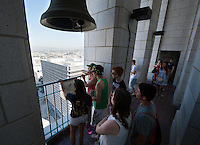 Photo from OxyEngage 2011, City Hall observation deck, downtown Los Angeles. Hosted by Occidental College's Office of Student Life, the program is for incoming students. August 25, 2011. (Photo by Marc Campos, Occidental College Photographer)