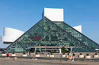 The Rock and Roll Hall of Fame, located in the birthplace of Rock and Roll, Cleveland, Ohio