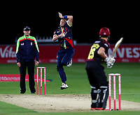 Mitch Claydon bowls for Kent during the Vitality Blast T20 game between Kent Spitfires and Somerset at the St Lawrence Ground, Canterbury, on Thur Aug 16, 2018