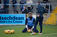 Goalkeeper Jamal Blackman of Wycombe Wanderers during the Sky Bet League 2 match between Wycombe Wanderers and Hartlepool United at Adams Park, High Wycombe, England on 26 November 2016. Photo by Andy Rowland.