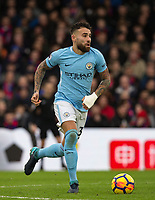 Nicolas Otamendi of Manchester City during the Premier League match between Crystal Palace and Manchester City at Selhurst Park, London, England on 31 December 2017. Photo by Andy Rowland.