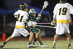 Placentia, CA 05/14/10 - Cole Sutliff (Foothill # 21) and Mitchell Hymowitz (MC # 8) in action during the Mira Costa vs Foothill boys lacrosse game for the 2010 Los Angeles / Orange County CIF Championship.