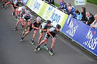 INLINE-SKATEN: STEENWIJK: Gagelsweg (start/finish), Schansweg, Meppelerweg, KPN Inline Cup, Klim van Steenwijk, 02-05-2012, Victor Wilking  (#138), Michael Cheek (#532),Kalon Dobbin (#506), ©foto Martin de Jong