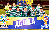 TUNJA-COLOMBIA, 09-09-2019: Jugadores de La Equidad, posan para una foto, antes de partido de la fecha 10 entre Patriotas Boyacá y La Equidad, por la Liga Águila II 2019, jugado en el estadio La Independencia de la ciudad de Tunja. / Players of Alianza Petrolera, pose for a photo, prior a match of the 10th date between Patriotas Boyaca and La Equidad, for the Aguila Leguaje II 2019 played at the La Independencia stadium in Tunja city. / Photo: VizzorImage / José Miguel Palencia / Cont.