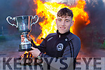 St Brendans College Captain Dara Moynihan with Hogan cup win as the bonfires burnt at his home club Spa Gaa on Sunday evening