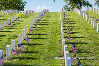 65095-02806 Gravestones at Jefferson Barracks National Cemetery St. Louis, MO