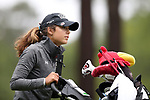 CHAPEL HILL, NC - OCTOBER 13: South Carolina's Marion Veysseyre (FRA) on the 10th tee. The first round of the Ruth's Chris Tar Heel Invitational Women's Golf Tournament was held on October 13, 2017, at the UNC Finley Golf Course in Chapel Hill, NC.
