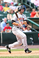 August 11th 2008:  Third baseman Neil Walker of the Indianapolis Indians, Class-AAA affiliate of the Pittsburgh Pirates, during a game at Frontier Field in Rochester, NY.  Photo by:  Mike Janes/Four Seam Images