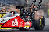 Feb 3, 2017; Chandler, AZ, USA; NHRA top fuel driver Doug Kalitta during Nitro Spring Training preseason testing at Wild Horse Pass Motorsports Park. Mandatory Credit: Mark J. Rebilas-USA TODAY Sports