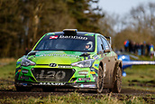 10th February 2019, Galway, Ireland; Galway International Rally; Manus Kelly and Donall Barrett (Hyundai i20 R5) finish 12th place in their new mount